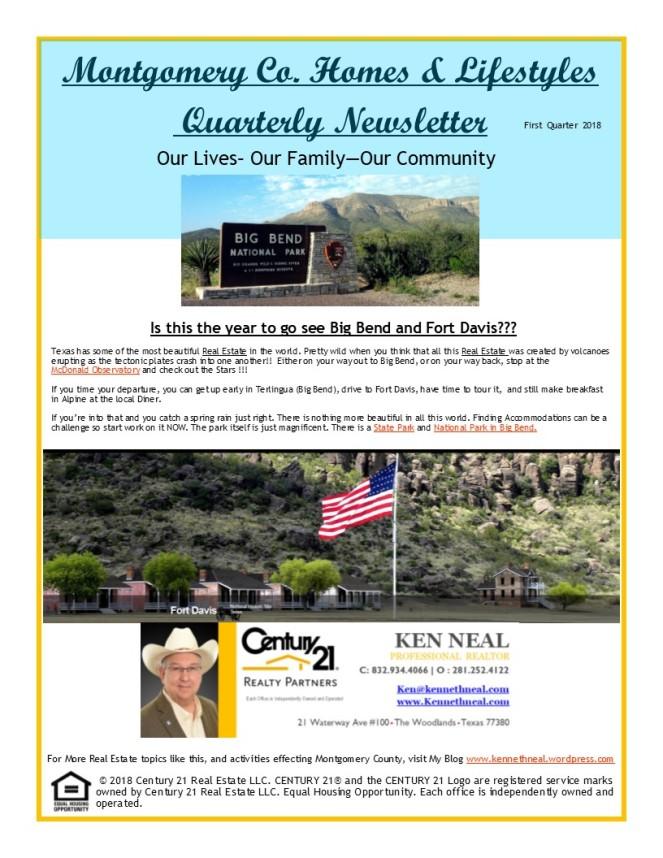 First Quarter News Letter Pg1